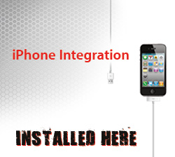 ipod and iphone integration installed here